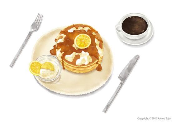 パンケーキ with レモンクリーム:Pancake with lemon cream