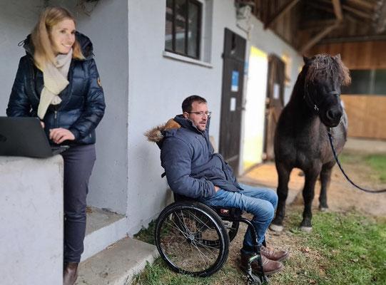 Gloria und Timo Ameruoso mit Nykur