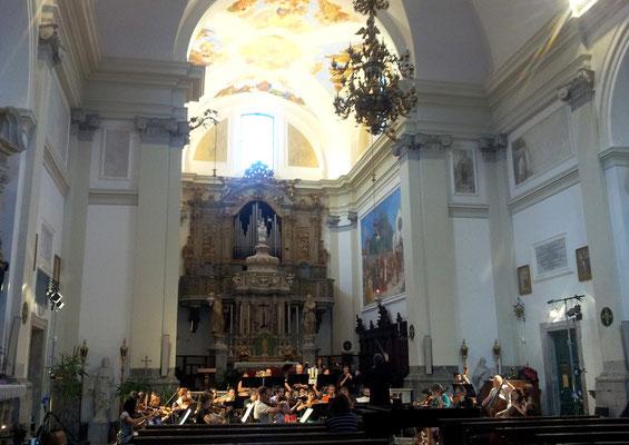 Sound rehearsal with FVG Mitteleuropa Orchestra in Abbazia di San Gallo (Moggio Udinese)