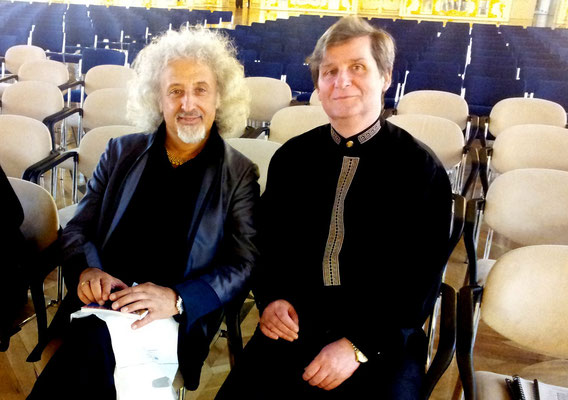with Mischa Maisky before the concert