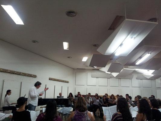 Rehearsal with Coro do Festival de Ópera de Brasilia