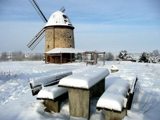 Winter an der Warnstedter Mühle
