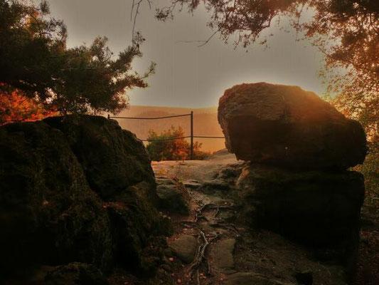 Mytische Stimmung abens an der Fuchsklippe
