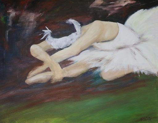 Tänzerin, Acryl, 80 x 100 cm, 360 €, Das Gemälde befindet sich momentan im KKH Aichach.
