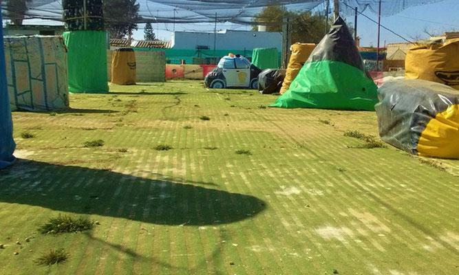 instalaciones del campo de paintball en Chiclana