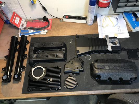 motorradteile sandgestrahlt bmw k100 motordeckel ölwanne schwarz glanz