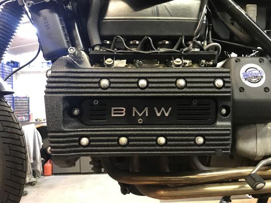 motorradteile sandgestrahlt bmw k100 motordeckel blackwrinkle black wrinkle struktur