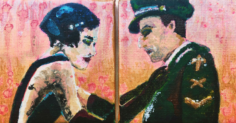 'Fix You' / acrylic on canvas / size 14 cm x 7 cm / € 55,-