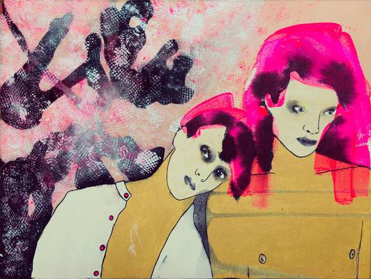 'FriendPretend' / mixed media on paper / size 38 cm x 28 cm / € 165,-
