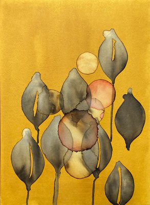 'Autumn II' / watercolor on paper - Anja de Boer 2020