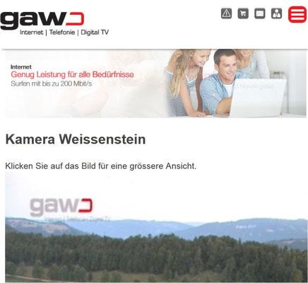 Klick Weissenstein GAW Webcam