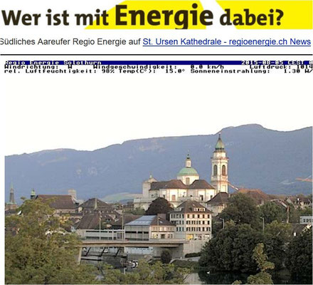 Klick Webcam Solothurn Region Energie