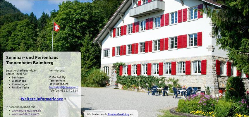 Gruppenhaus Lagerhaus Jura