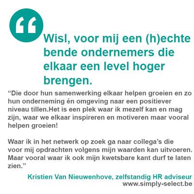 Kristien Van Nieuwenhove, zelfstandig HR adviseur | www.simply-select.be