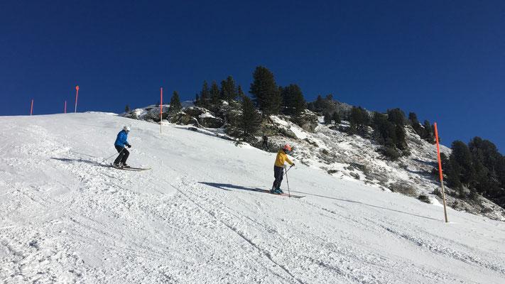 Wie der Skilehrer sagt: Immer schön entlasten!