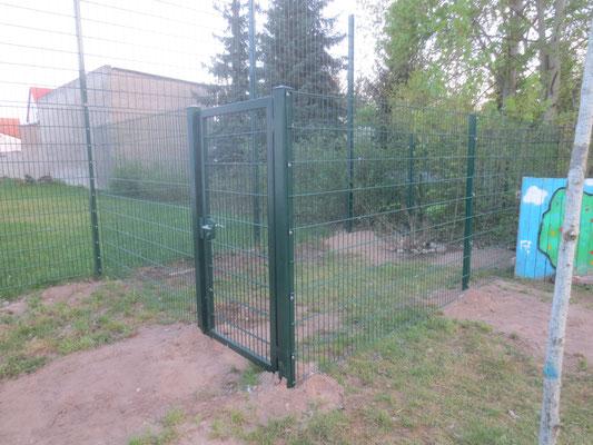 Ein Zaun wurde errichtet.