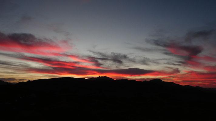 Sonnenuntergang in der Namib, Nov. 2016