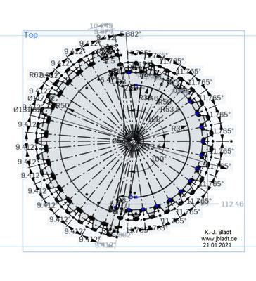Abgesetztes Zahnrad / gezeichnet mit Oneshape / Vorbereitung zur Extrusion