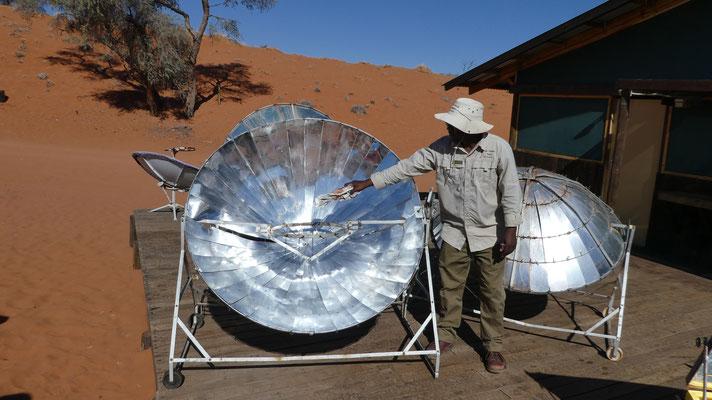 Kochen in der Namib-Wüste, NaDEET-Zentrum, Nov. 2016