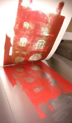 2ème passage de couleur pour le rouge