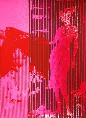 Art moderne, sérigraphie originale de femmes 38cm x28cm