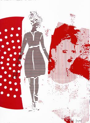 Sérigraphie rouge 38cm x28cm