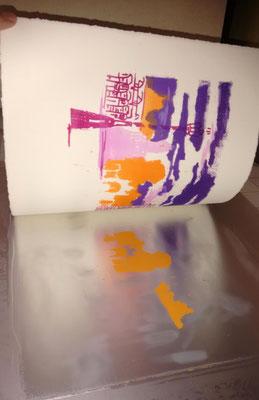 Kitchenlitho avec sa plaque pour la couleur orange