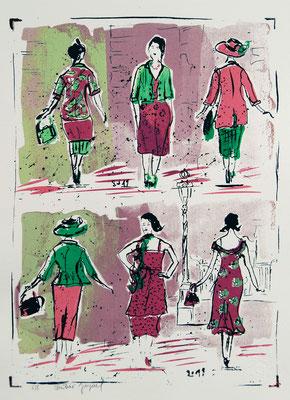 Sérigraphie originale de femmes en 8 exemplaires numérotés 30cm x40cm