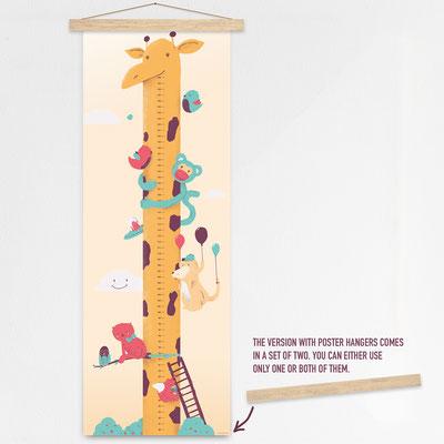 Grow chart poster hanger