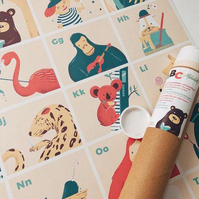 ABC print Close Up