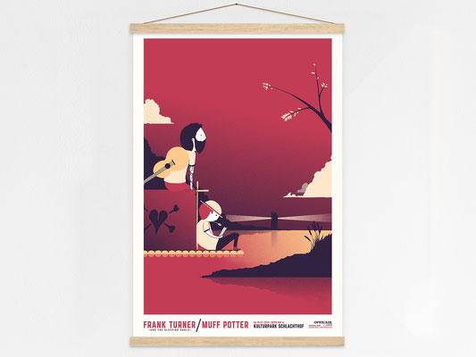 Frank Turner Muff Potter - poster hanger