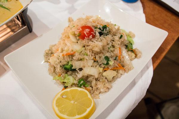 Kao Pat Pag (gebratener Reis mit Gemüse, ohne Ei)