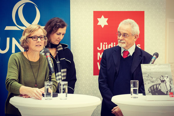 Uli Jürgens, Kuratorin Andrea Winklbauer, Victor Klagsbrunn (Copyright JMW)