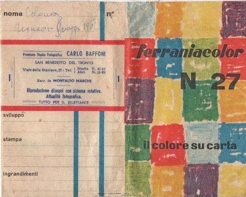 Pubblicità dell'epoca (1962) cortesia collez. Enzo Di Lorenzo