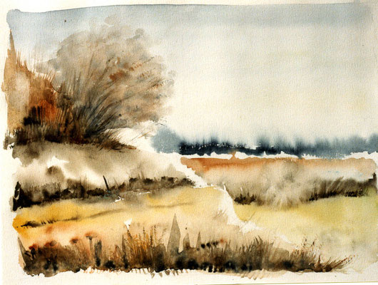 """Winterlandschaft"" Aquarell"