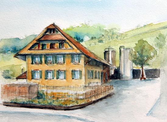 """Bauernhof Zufikon"" Aquarell"