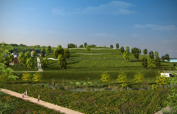 Landschaftsvisualsierung rund um den PHOENIX See. Entwurf Landschaft Planen und Bauen  Dortmund