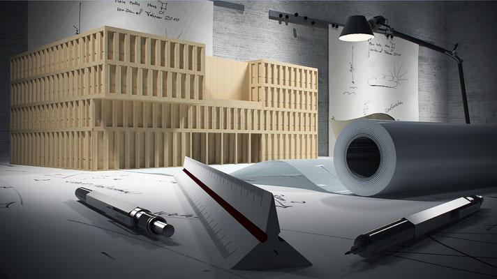 Architekturvisualisierung eines Architekturbüros