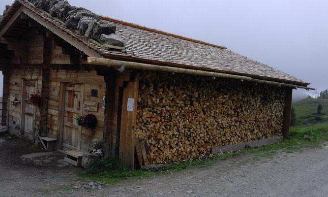 Das Holz ist fertig aufgeschichtet. Herzlichen Dank an das Holzerteam Rene, Hans, Albert und Ben!