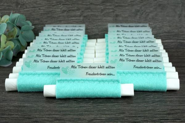 Freudentränen Taschentücher Filz Mint