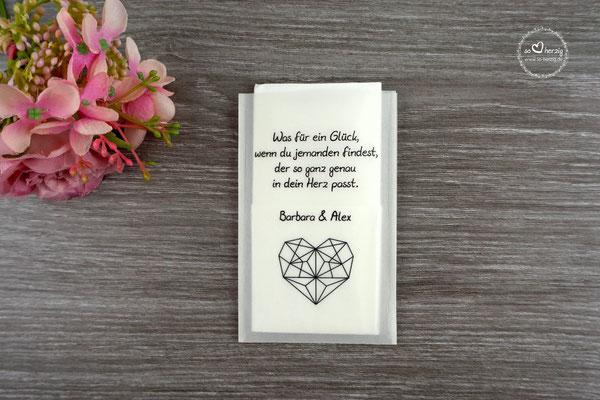 Freudentränen Taschentücher aus Pergamentpapier Design Kundenwunsch