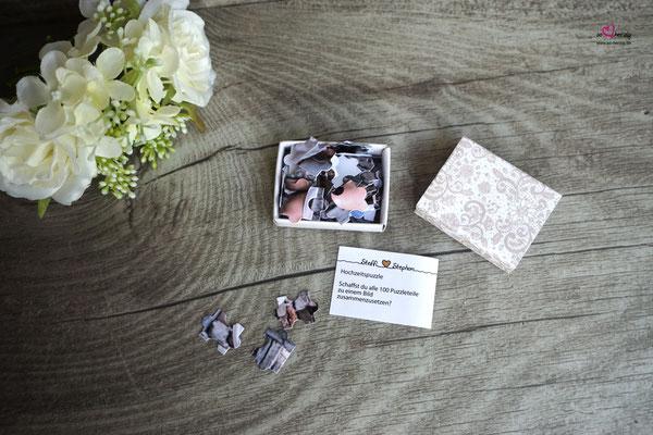 Streichholzschachtel-Spiel, Puzzle - Hochzeit Steffi & Stephan