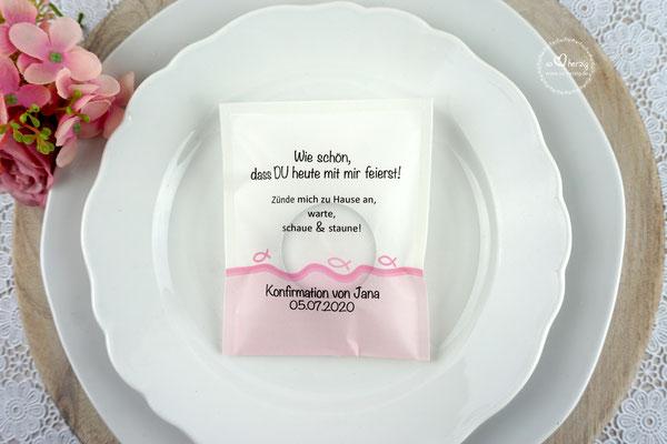 LichtBotschaft Design Fisch Silhouette Rosa