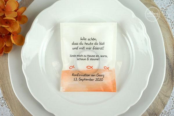 Licht-Botschaft Design Aquarellband/Fische Orange