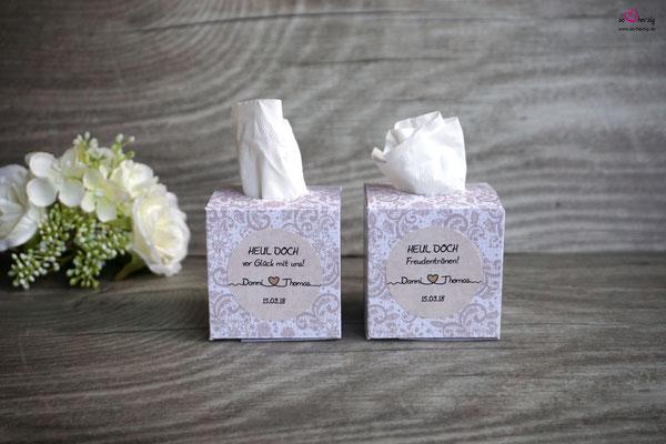 Taschentücher Box - Sonderanfertigung Hochzeit Danny & Thomas