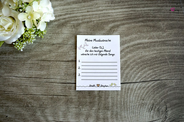 Musikwunschkarten - Hochzeit Steffi & Stephan