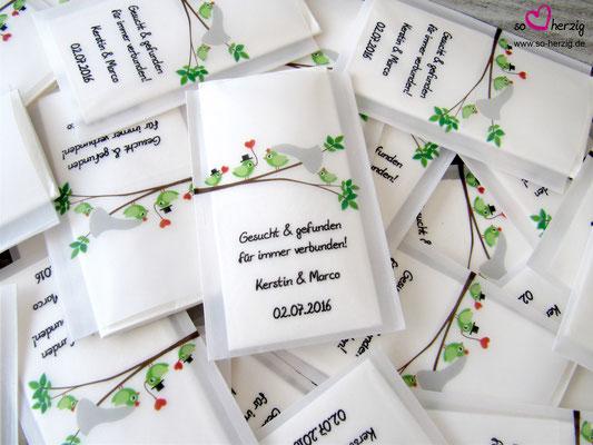 Eine Familie heiratet! Freudentränen Taschentuch, Sonderwunsch Steigerwald