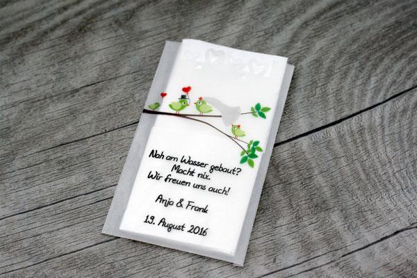 Eine Familie heiratet! Freudentränen Taschentuch Pergament Tüte, Sonderwunsch