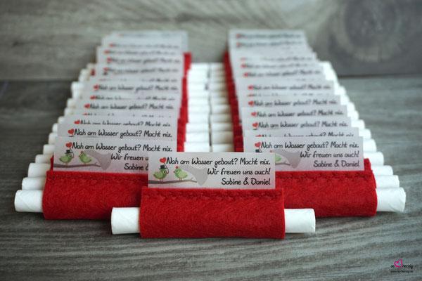 Freudentränen Taschentücher Filz Rot
