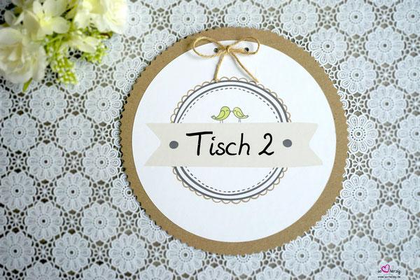 Tischkarten für Tische - Hochzeit Steffi & Stephan